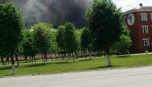 Пожар на заводе «Полимир»