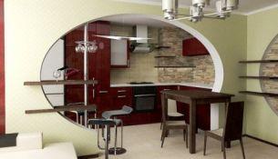 Однокомнатная квартира, кухонная мебель