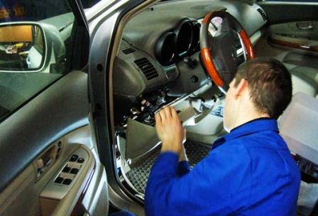 Демонтаж старой автомобильной сигнализации - фото