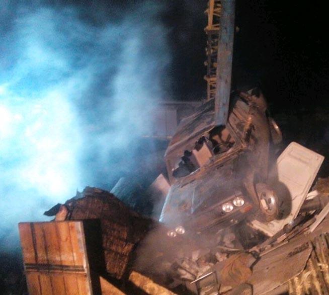 ВМачулищах в итоге взрыва разрушено шесть гаражей, один человек госпитализирован
