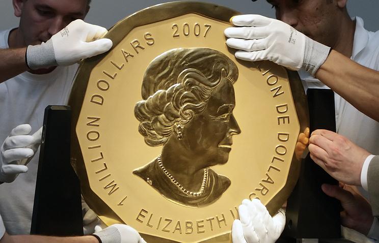из музея Боде похитили 100-килограммовую золотую монету