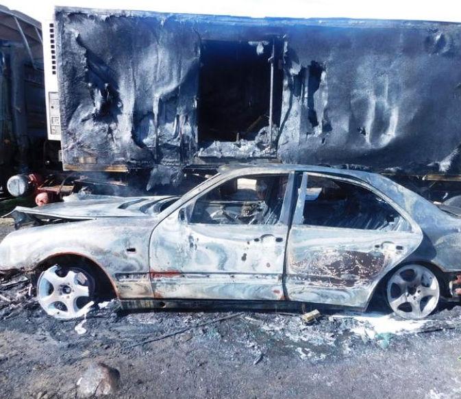 ВИвьевском районе шофёр получил ожоги, пытаясь потушить грузовой автомобиль