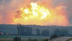 Пожар под Винницей: в Украине горят склады с боеприпасами