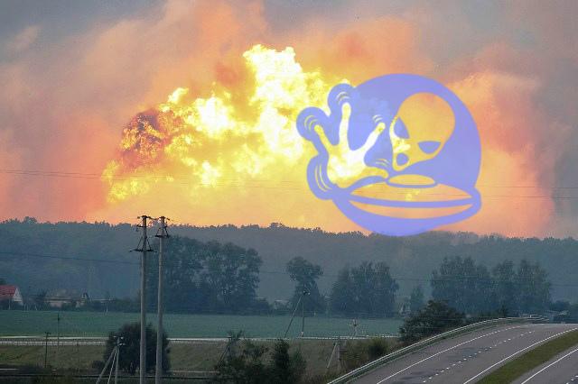 Глава Генштаба Украины заподозрил НЛО в пожаре на складах боеприпасов под Винницей
