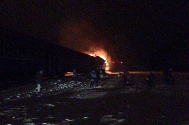 Задержка дизеля Брест-Пинск из-за возгорания кабины составила 1.5 часа
