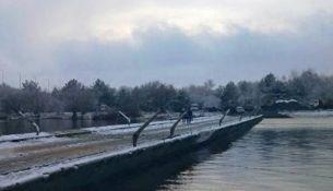 Движение по понтонному мосту через Припять приостановлено из-за морозов