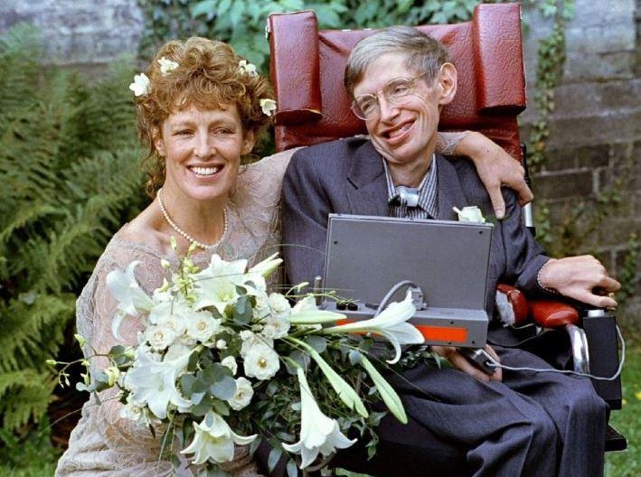 Стивен Хокинг и Элейн Мейсон  - фото