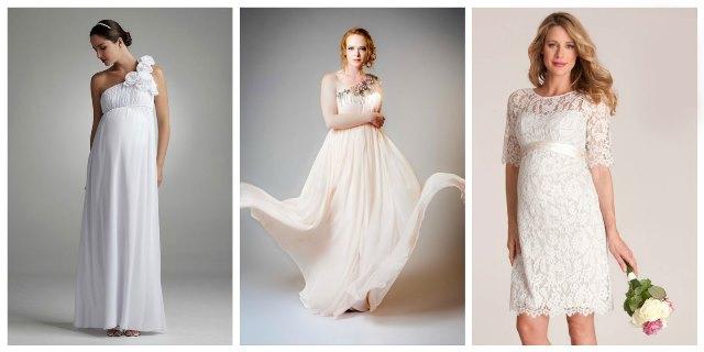 Свадебное платье для беременной - фото