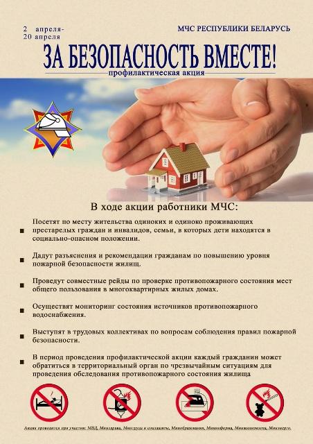 Акция МЧС «За безопасность вместе» - фото.