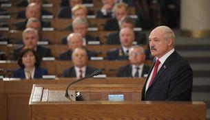Президент выступил с посланием белорусскому народу - фото