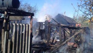 Пожар в д. Гряды Пинского района - фото