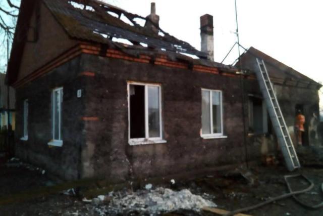 Пожар в д. Камень Пинского района - фото.