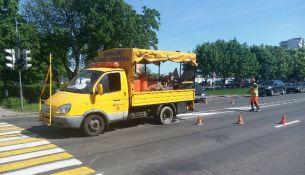 В Пинске обновляют разметку: что изменится на дорогах города - фото