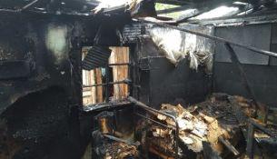 Пожар в доме - фото