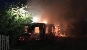 Пожар в Лосичах - фото