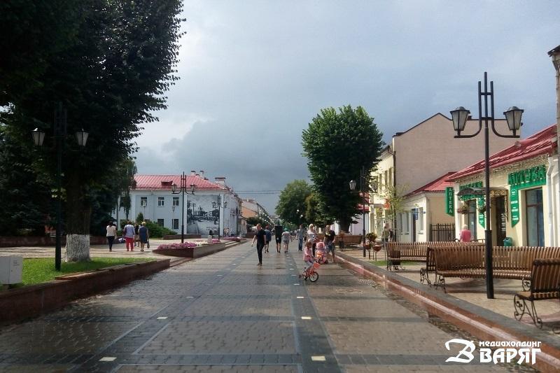 теплая и дождливая погода, Пинск, июль