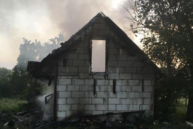 Пожар в д. Каллауровичи - фото