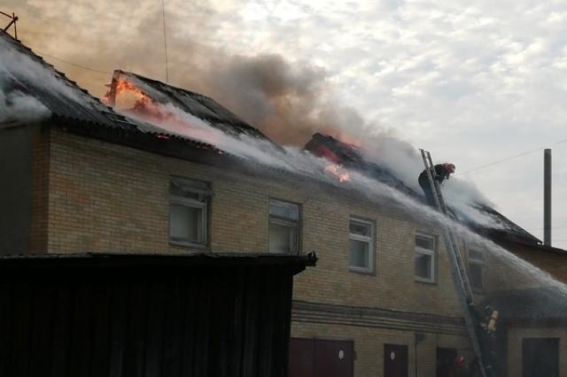 Пожар в РАЙПО - фото