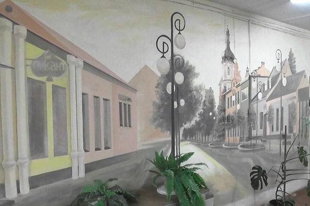 Роспись стены - фото