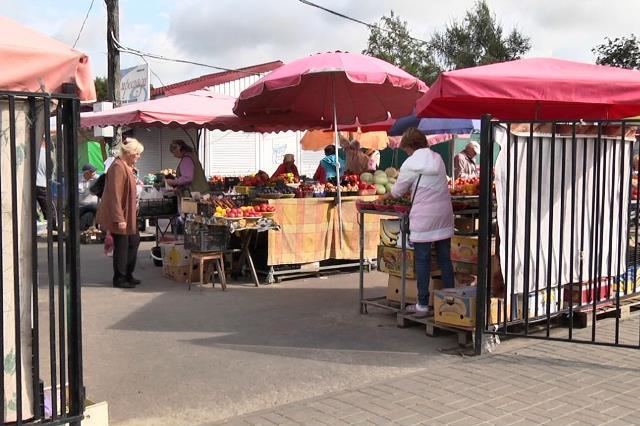 Пенсионерку из Пинска осудили за продажу пакетов на рынке, фото - рынок в Пинске по ул. Звездной