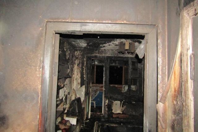 Пожар на ул. Ильина в Пинске - фото
