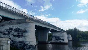 Автомобильный мост через реку Пина - фото, 2019