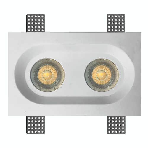 встраиваемые гипсовые светильники - фото