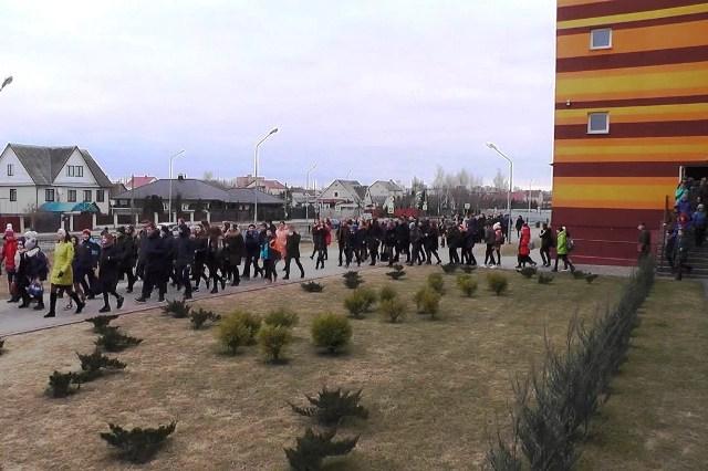 Учебная эвакуация - фото