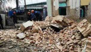 обрушилось историческое здание в Пинске - фото