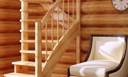 строим лестницу из сосны - фото