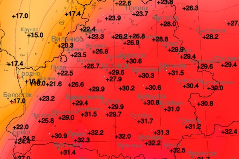 В Пинске побит температурный рекорд - фото Белгидромета