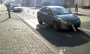 Автоледи на Хундай сбила женщину на пешеходном переходе в Пинске - фото