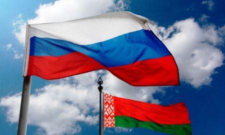 Беларусь и Россия, флаги, карантин для въезжающих из России, фото