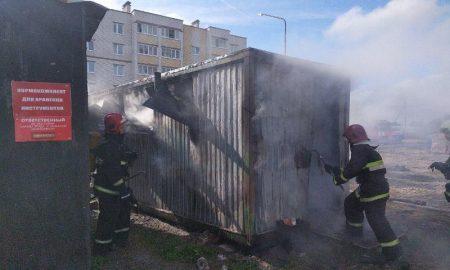 Пожар в бытовке - фото