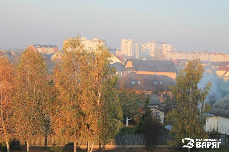 Пинск в дыму - фото
