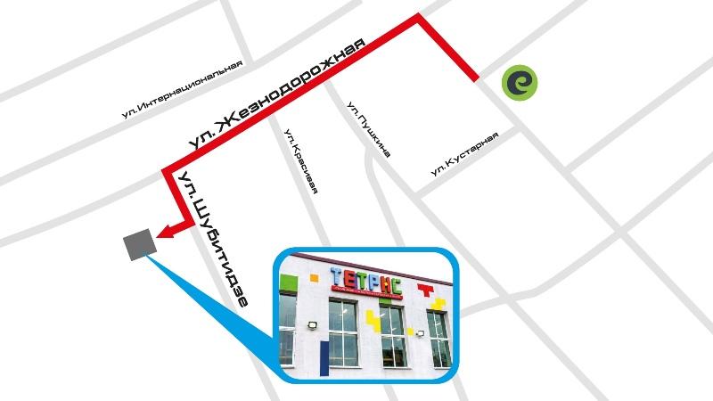 Семейный развлекательный центр «Тетрис» в Пинске - схема проезда