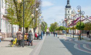 Первомай в Пинске, фото Виктора Кузнецова