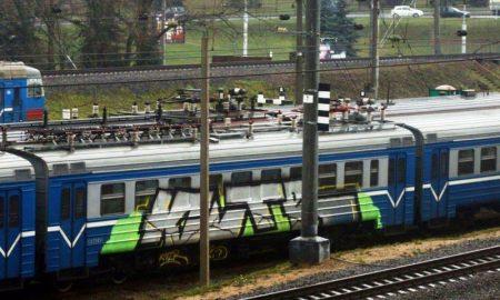 пинчанин расписал краской два вагона - фото