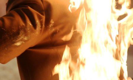 чуть не сгорела заживо - фото