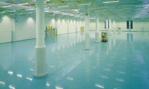 Промышленные наливные полы - фото