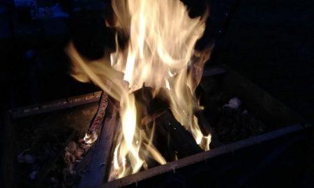при розжиге мангала получил ожоги - фото