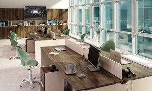 Обстановка офиса, офисная мебель - фото