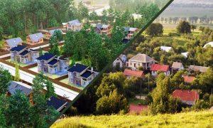 село и поселок - разница, фото