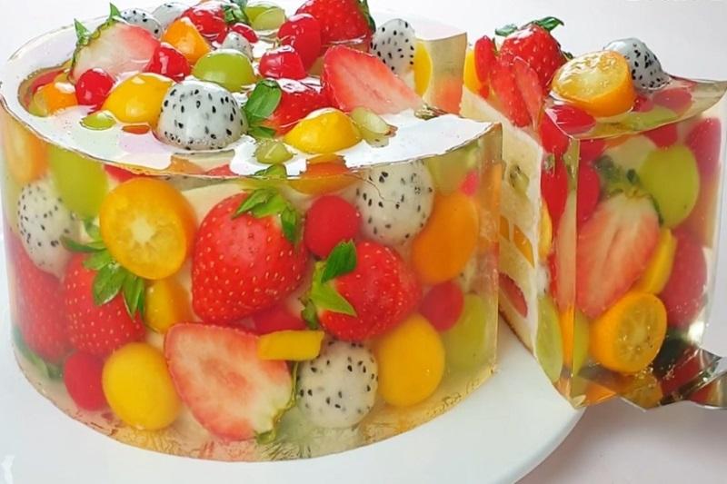 фруктово-ягодный торт