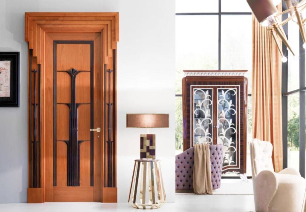 деревянные двери - фото